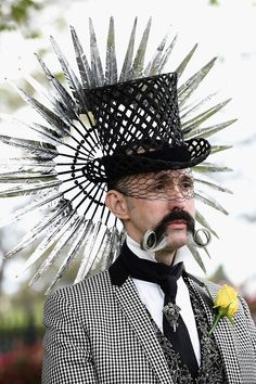 SOMEONE got fancy for the Melbourne Cup: A man arrives at the Flemington Racecourse before the running of the Melbourne Cup horse racing in Melbourne, Australia,