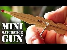 Have a clothespin and some matches lying around? Then you already have much of what you need to make a cool mini matchstick gun--a toy which packs a surprising amount of power considering how silly it sounds.