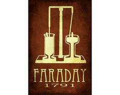This science art print dedicated to the chemist and physicist Michael Faraday and features an electromagnetic rotation illustration. Perfect for a chemistry gift or physics gift! Michael Faraday, Chemistry Gifts, Chemistry Teacher, Science Gifts, Science Quotes, Science Art, Science Posters, Physical Science, Physics Poster