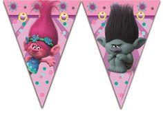 Dreamworks Trolls Plastic Party Flag Banner Bunting