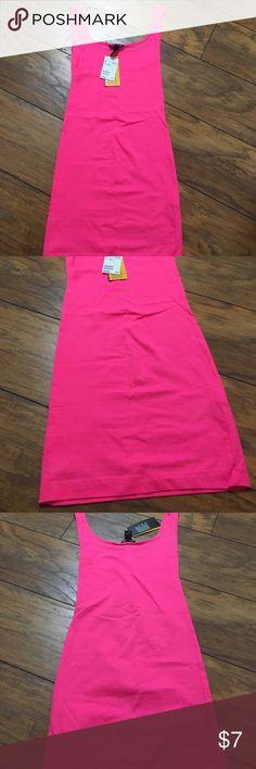 HOT PINK MINI DRESS Hot pink mini dress from h&m , never worn ! H&M Dresses Mini