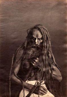 Indian fakir, 1860′s.