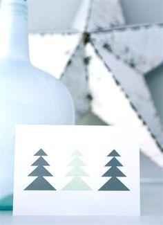 XMAS Cards &SUUS | Set van 4 leuke kerstkaarten op A6 formaat van ensuus op Etsy | www.ensuus.nl