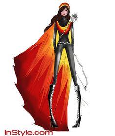 boceto del traje de fuego