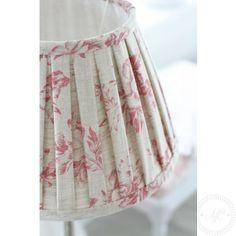 Lampshade box pleats ~ Paris Rose Raspberry