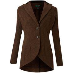 Lauren by Ralph Lauren Harris 2 button wool jacket found on Polyvore