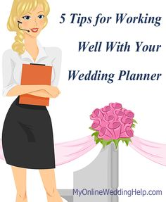 Working With a Wedding Planner--a few best practices for making working with a planner/coordinator more effective.