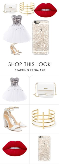 """""""mi hermosa gala"""" by karenrodriguez-iv on Polyvore featuring Schutz, BauXo, Lime Crime and Casetify"""