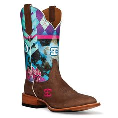 Cinch Edge Women's Sky Bar Square Toe Western Boots. Fricken adorable in love