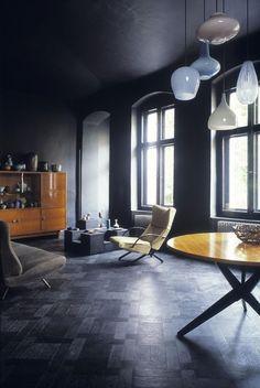 Osvaldo Borsani easy chair with Marco Zanini sofa in berlin apartment