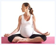 Pregnancy yoga poses to help release a stiff neck and shoulders. Click for more ways to ease this common #pregnancy discomfort!