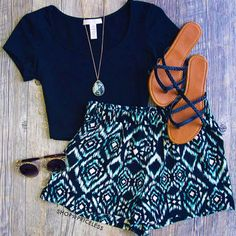 Ocean Wave Aztec Shorts