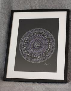 Mandala on A3 paper