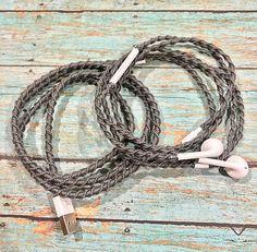 No tangle handmade macrame wrapped Earphones/EarPods with Mic