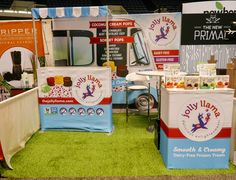 This youthful tradeshow display was inspired by vintage ice cream stands and a breezy, summer color palette Trade Show Design, Ice Cream Stand, Vintage Ice Cream, Show Booth, Exhibit Design, Museum Exhibition, Project 3, Natural Products, Summer Colors