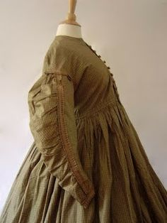 maternity wear 1850's Everyday dresses were altered.
