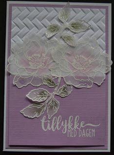 Troldinden: Blomsterkort med vellum.