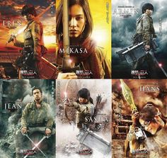 Live-Action Attack on Titan It Movie Cast, Movie Tv, It Cast, Eren And Mikasa, Armin, Attack On Titan Game, Live Action Movie, Action Movies, Rurouni Kenshin