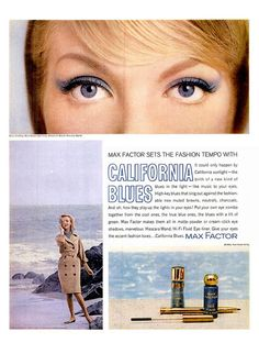 Retro Makeup In (relatively) subtle doses I've always been drawn to blue vintage eyeliners and shadows. Vintage Eyeliner, Vintage Makeup Ads, Vintage Beauty, Vintage Ads, Funny Vintage, Vintage Cameras, Vintage Stuff, Vintage Colors, Vintage Dress