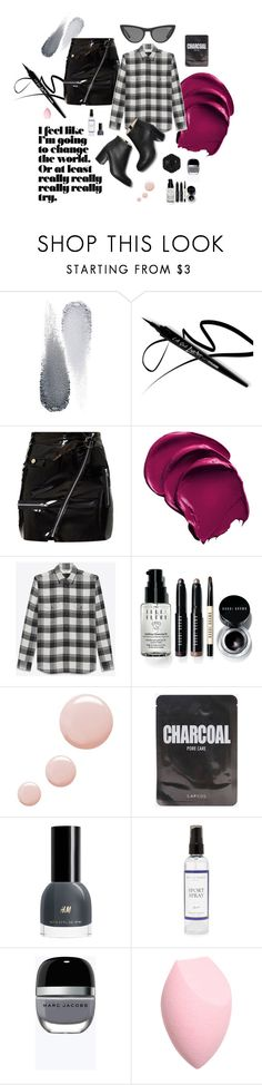 """Pinky Black"" by tinquash on Polyvore featuring мода, Clé de Peau Beauté, Yves Saint Laurent, Victoria, Victoria Beckham, Bobbi Brown Cosmetics, Topshop, The Laundress, Swissco и Marc Jacobs"