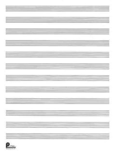 music manuscript template - this letter sized music manuscript paper has six staves