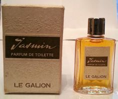 VINTAGE IN BOX JASMIN LE GALION PARFUM DE TOILETTE PDT 9 ML 1/3 OZ 100% Full!