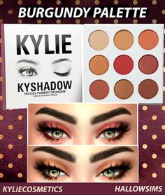 i found this beautiful eyeshadow pallet it is the kylie jenner kyshadow i made a previous pintrest account were i had sims cc but i didn't remember my pass but back to the cc its by HallowSims and here is the DOWNLOAD: http://simfil.es/126076/ i do NOT take this cc as mine it was mad by hallow sims as i said so go show them some love at their WEBSITE: http://www.hallow-sims.com/