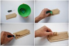 HOW TO separate liner from fluted layer of cardboard