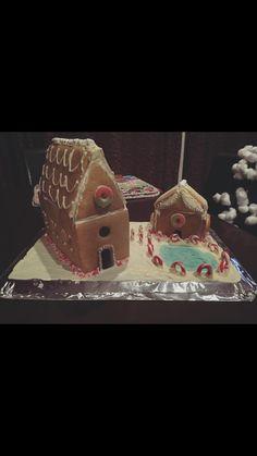 Santa's grotto, gingerbread house, gingerbread village.