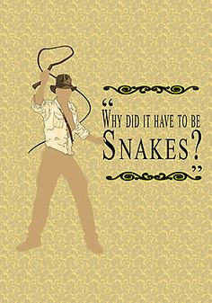 """Indiana Jones- Snakes"" Photographic Prints by Margybear 