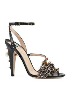 watch a6b75 44682 Gucci Wangy Crystal Hand Strappy High Heel Sandals Shoes - Bloomingdales