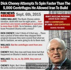 Conservative GOD Cheney Attempts To Spin Faster Than The 5000 Centrifuges He Allowed Iran To Build