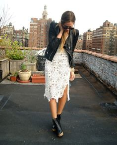 The Peak of Tres Chic: Leather & Lace