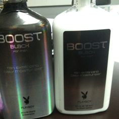 Package change discussions ...playboy boost package change. New version on right. Same amazing product.