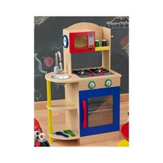 KidKraft Colorful Wooden Play Kitchen: Toys & Games