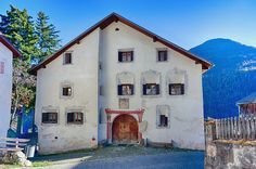 Engadine House in Guarda Switzerland, Skiing, Walls, Explore, Architecture, House Styles, Places, Holiday, Nature