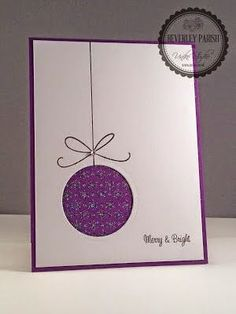 handmade Christmas card from Uniko Studio … clean and simple mod look … purp… – Christmas DIY Holiday Cards Simple Christmas Cards, Beautiful Christmas Cards, Homemade Christmas Cards, Homemade Cards, Christmas Diy, Christmas Card Designs, Christmas Card Making, Corporate Christmas Cards, Christmas Games