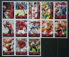 2012 Topps Tampa Bay Buccaneers Team Set of 13 Football Cards #TampaBayBuccaneers