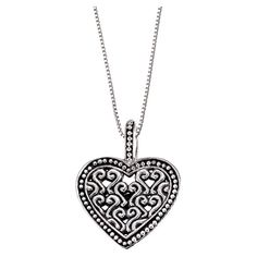 Silver heart-shaped pendant necklace @Pascale Lemay Lemay Lemay De Groof