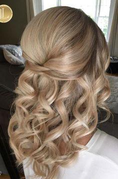 Image Result For Wedding Hairstyles Half Up Half Down Medium Length