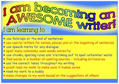 We are Awesome Writers poster 2 Classroom Treasures: Writing