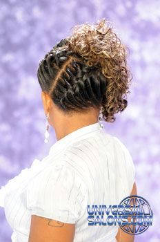 Gallery Black Hair Salons, Styles and Models - Universal SalonBlack Hair Salons, Styles and Models - Universal Salon Black Hair Updo Hairstyles, Pretty Hairstyles, Girl Hairstyles, Curly Crochet Hair Styles, Curly Hair Styles, Natural Hair Styles, Black Hair Salons, Braids With Curls, Creative Hairstyles
