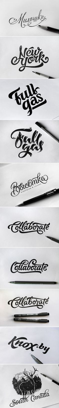 I like the variety and smooth edges that have been created. Sketch Vol. 2 on Behance