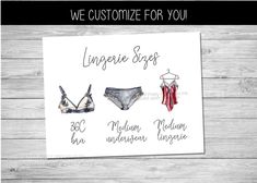 Printable lingerie size card - perfect for a bridal lingerie shower, lingerie party or bachelorette party! Help shower the bride-to-be with all things lacey and racy. We customize for you, all you have to do is print/send to guests! #lingeriesizecard #lingerieshower #lingerieparty #pantygame #lingerieinsert #bridesmeasurementscard #bridalshower #braandpantysizeinsert Hens Party Invitations, Lingerie Shower Invitations, Bridal Lingerie Shower, Lingerie Party, Bridal Shower Games, Printable Invitations, Party Printables, Shower Inserts, Bachelorette Party Games