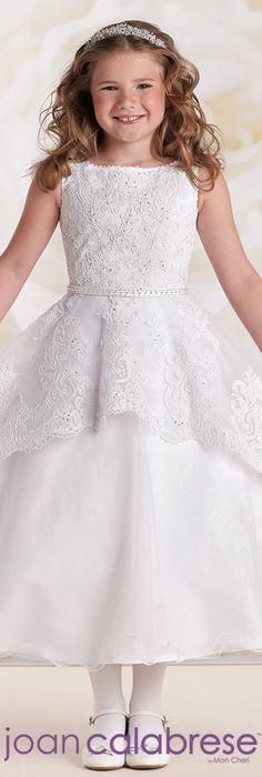 Joan Calabrese for Mon Cheri - Style No. 115313 #flowergirldresses calabresegirl.com