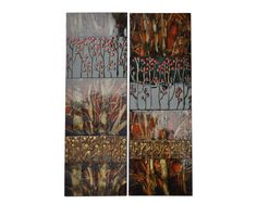 The Raven's Grounds 2 Peice Painting Print on Canvas Set