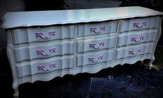 Annie Sloan old white and Antoinette Custom French dresser by The Uppity