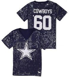 Victoria s Secret Pink® Dallas Cowboys Sequin Football Tee Dallas Cowboys  Outfits eee3bdc4c