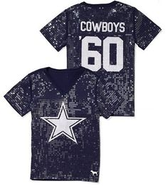 Victoria's Secret Pink® Dallas Cowboys Sequin Football Tee