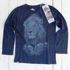 Hip! Lion of Leisure – longsleeve Lion, welk klein mannetje vindt dit shirt nou niet superstoer?